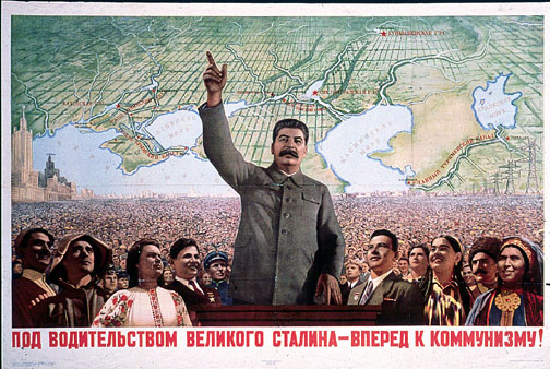 Stalin poses ad demagod WW2 Propaganda Poster