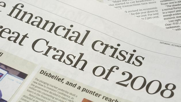 Newspaper headlines - finanical crisis on 2008